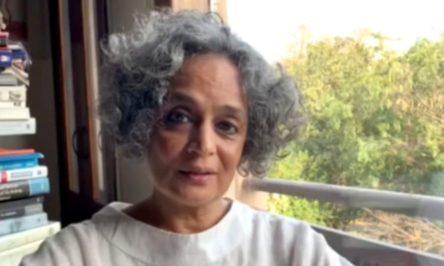 "Indian author, activist Arundhati Roy reads from her essay ""The Pandemic is a Portal""."